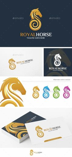 Royal Horse - Logo  EPS Template • Only available here! → https://graphicriver.net/item/royal-horse-logo-template/17361355?ref=pxcr