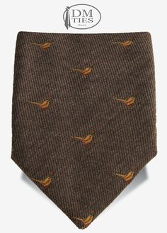GIOIA - Cravatta in lana beige con uccelli