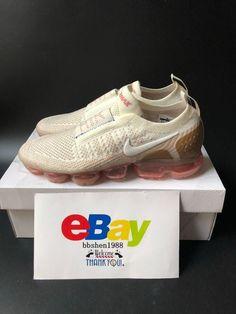 49325b37fe50b New Nike Air Vapormax Flyknit MOC 2.0 Sail Anthracite AH7006-100 Cream  Brown  Nike