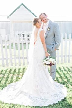Lace Wedding Dress. Fitted Wedding dress. Low Back Wedding Dress. Wedding Dress Store. Champagne Wedding Dress. Rustic Wedding Dress. Outside Wedding Dress. Missouri Wedding. Wedding Ideas. Wedding Dress Ideas. STL Wedding. Wedding Dress Store. Photo by: Rochelle's Photography.