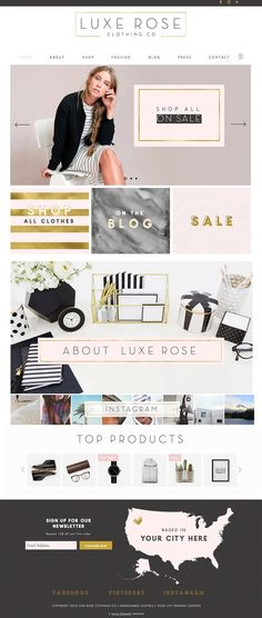 E-commerce Wix Website Template  by Sunny Blossom Designs on @creativemarket #AD
