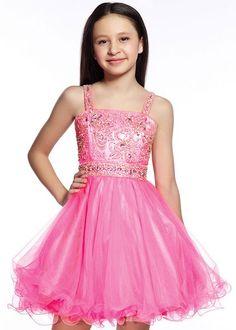 Lexie by Mon Cheri TW21545 Girls Pink A-Line Short Dress, Bat Mitzvah Dresses, Party Dresses, Tween Dresses