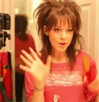 Lindsey Stirling hair tutorial GIF