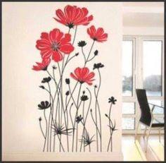 Melinterest Brasil. Adesivo Decorativo Para Ambiente E Parede - Rosas Gigantes