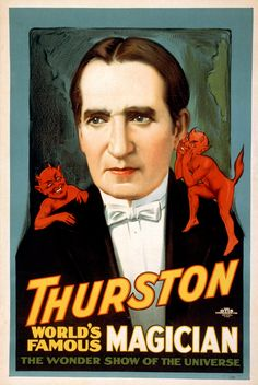Thurston World's Famous Magician Magic Poster