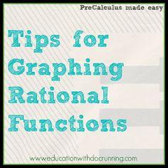 Math Mondays: Polynomials in PreCalculus - Graphing Rational Functions Rational Function, Precalculus, Secondary Math, Education Architecture, Creative Teaching, Math Teacher, Math Resources, Math Lessons, Algebra 2