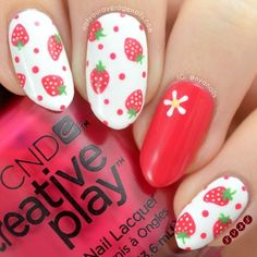#Strawberry Nail Art
