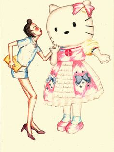Girl in hellokitty