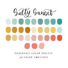 Color Palette For Home, Sunset Color Palette, Sunset Colors, Colour Pallette, Colour Schemes, Color Combos, House Color Palettes, Color Schemes For Websites, Website Color Palette