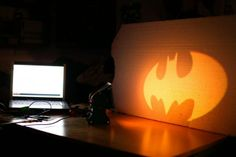 DIY - batman lamp... I knew I could find this here!!!