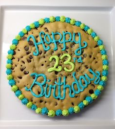 Birthday cookie cake & Cookie Cakes) Love the colors on this one!!!! | Project Cakes ...