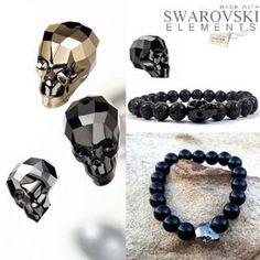 Swarovski Skulls , skull bracelets