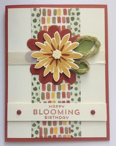 November Birthday flower Chrysanthemum Mum #cardmaking idea - Color Me Autumn Flower Patch | Midnight Crafting handmade Stampin Up card - Cajun Craze
