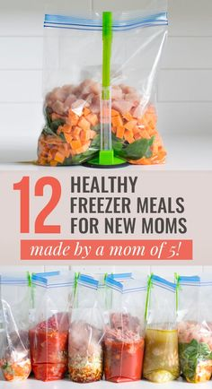 Are you looking for healthy freezer meals to make while pregnant? This is the gold mine! After having five babies myself I decided to put together a list of my favorite healthy freezer meals for new moms. Vegetarian Freezer Meals, Freezable Meals, Budget Freezer Meals, Make Ahead Freezer Meals, Freezer Cooking, Healthy Crockpot Recipes, Healthy Meal Prep, Baby Food Recipes, Dinner Recipes