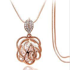 Z-Jeris Fashion Rhinestone Crystal Stuffing Hollow Flower...