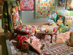 Kaffe Fassett exhibition in London May 2013