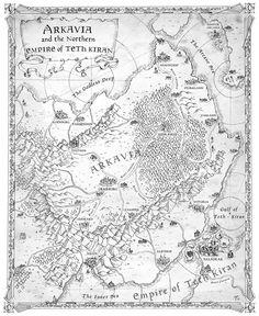 Map of Arkavia - Kight of Aslath by FrancescaBaerald.deviantart.com on @DeviantArt