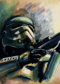 Star Wars Themed Watercolor Art by Reddit User terry_cook1