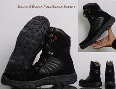 ZimZam Sepatu Delta G-Block Resleting Safety full black