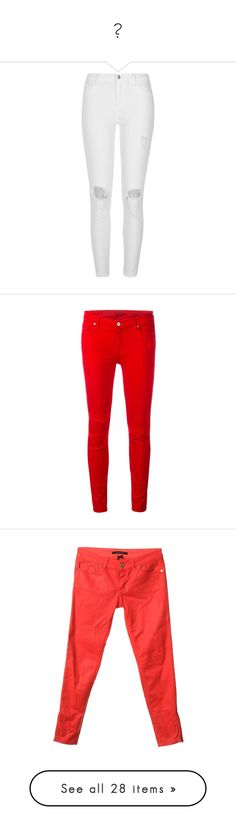 """👖"" by laly-reclama ❤ liked on Polyvore featuring jeans, pants, bottoms, calças, white, skinny jeans, women, white high waisted jeans, high-waisted skinny jeans and super high-waisted skinny jeans"