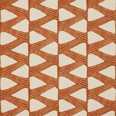 Kanoko Fabric A striking fabric with a meandering graphic zig zag motif printed in copper on natural. The design is inspired by a 1930s Japanese Shibori document, once a kimono. Shibori is a traditional Japanese batik type technique which involves binding certain sections of the fabric to achieve the desired pattern.