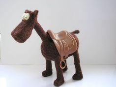 OOAK Hand Crafted Needle Felted Comic Horse Doll Toy from Lamb Wool | eBay