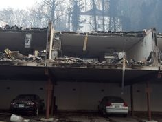 Apartments near the Park Vista hotel after wildfires