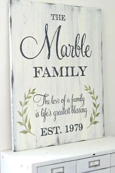 Family wood signs