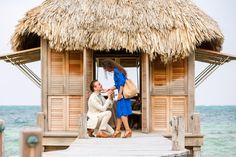 She thought he was on a business trip until he showed up in Belize! It was the perfect surprise proposal. <3