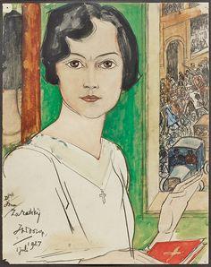 Portret Isna Zaratsky, Jan Toorop.