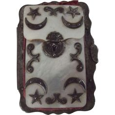 Mother of Pearl Calling Card Case Possibly Masonic at From Here to Victorian on Ruby Lane