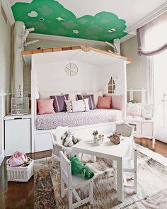 Un coqueto dormitorio de cuento