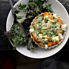 Butternut, Carrot and Goat's Cheese Tartlets | http://www.joanne-eatswellwithothers.com/2012/05/recipe-butternut-carrot-and-goat-cheese.html