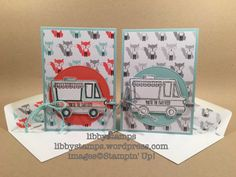 libbystamps, stampin up, Tasty Trucks, Stitched Shapes Framelits, A Little Foxy DSP, We Create, SAB 2017