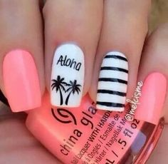 nails, Aloha, and nail art image