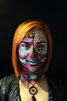 Zombie Pop Art Artistas: David Barbosa y Juliana Alarcón Zombie Pop, Halloween Face Makeup, David, Artistic Make Up, Atelier, Hair, Artists