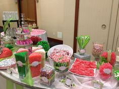 candybar | Real Events: Pink and Lime Green Candy Bar | West Belmont Place Blog