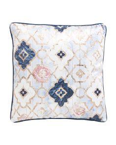 18x18 Velvet Rose Quartz Moroccan Pillow $25