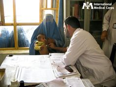 March 2: A child receives a checkup at an International Medical Corps clinic in Afghanistan.   Photo: Serena Chong, International Medical Corps, Afghanistan 2012