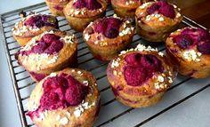 Frambozen-havermout muffins