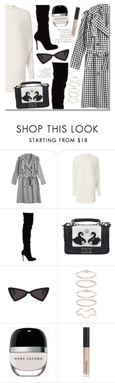 """13 My belted coat"" by laurafox27 ❤ liked on Polyvore featuring Designers Remix, Christian Louboutin, Mia Sarine, Marc Jacobs and Bare Escentuals"