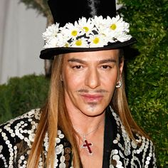 John Galliano is a British fashion designer who served as head designer of the French haute couture houses Givenchy (1995-1996) and Christian Dior (1996-2011).