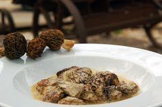 Múrgules farcides de foie-gras gratinades