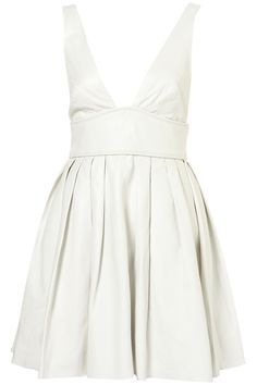 LIMITED EDITION WHITE LEATHER FLIPPY DRESS    Price: $350.00
