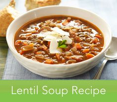 Warm up with some hearty, wholesome lentil soup this season. Bacon, lentils and carrots make this filling soup into a full meal, perfect for the colder weather.