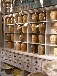 .french milliner's hat bases collection display @rubylanecom www.rubylane.com #antique #vintage