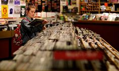 A customer browsing in Jumbo. Photograph: Christopher Thomond for the Guardian