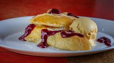 Doesn't this Peach Strudel look delicious? Yes? That's because it is! Stop by Alor Cafe tonight for a Drink and a peach strudel! #siny #statenisland #desserts http://alorcafe.com/menu/statenisland_dessert/
