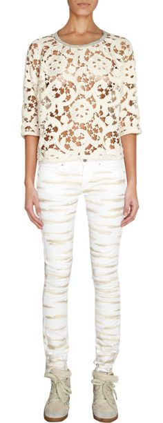 Isabel Marant Decorative Lace Top at Barneys.com