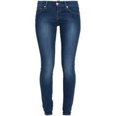 7 FOR ALL MANKIND Olivya Skinny Jeans ($272) ❤ liked on Polyvore